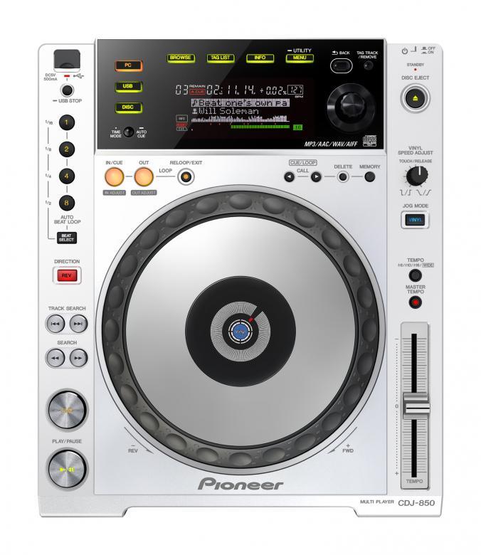 PIONEER CDJ850W MP3+ USB DJ CD-soitin. V, discoland.fi
