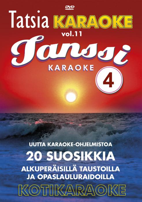 TATSIA Kotikaraoke Vol 11 Tanssi 4-DVD l, discoland.fi