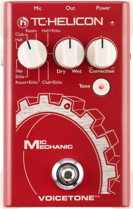 TCHELICON TC VoiceTone Mic Mechanic-laulajan äänimies pedaalikoossa! Huono tila? Lattea mikkisoundi? Äänimies puuttuu? Kutsu apuun Mic Mechanic – vokalistin työkalupakki pedaalikoossa! Tämä äänimies on käytettävissä 24h ilman lisäveloitusta. Mic Mechanicin erinomainen äänenlaatu ja efektit kulkevat aina mukanasi tarjoten sinulle viimeistellyn laulusoundin - tilanteesta riippumatta.Jokainen laulaja arvostaa hyvää reverbiä. Mic Mechanicissa sisältää TC:n VoiceLive-sarjan reverbin, jolla saat annosteltua ääneesi tilan tuntua juuri sen verran kuin sitä tarvitset.