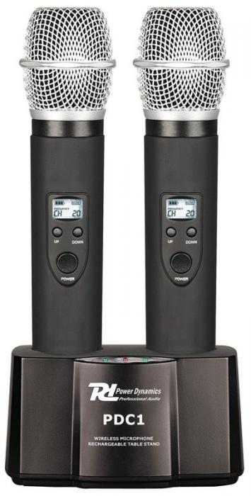 POWERDYNAMICS PDC1 Charger handheld microphone, laturi PD7100 ja PD7200 sarjojen käsimikrofonille!