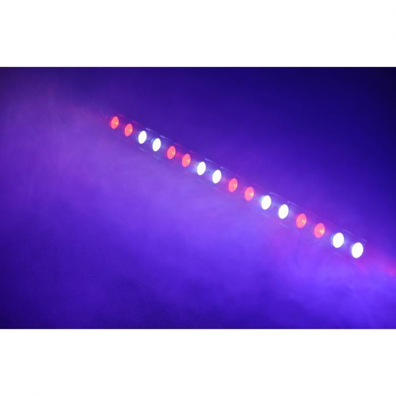 BEAMZ PRO LCB-48 Color LED-palkki 16x 3W TCL LEDiä 8 lohkoa 25º. Tässä 3-26 kanavaisessa DMX LED tangossa on 16 värillistä LEDiä (Tri Color) ja se on suunniteltu moniin käyttötarkoituksiin. Tässä laitteessa on mahdollisuus staattisiin väreihin, stroboon, himmentimeen ja värien sekoitukseen. Useita eri käyttömoodeja sekä säädettävä nopeus. Mitat 985 x 135 x 100mm sekä paino 4,2kg.