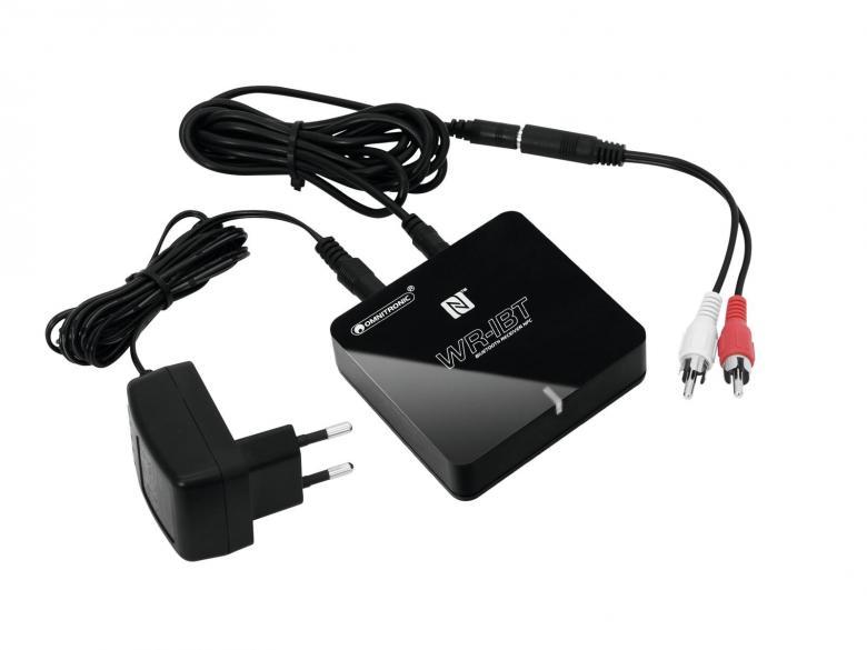OMNITRONIC WR-1BT Bluetooth vastaanotin NFC omnitronicin uusi Bluetooth vastaanotin. Omnitronicin uutuus langattomaan äänentoistoon. Helppokäyttöinen Bluetooth- vastaanotin audion langattomaan siirtoon. Soveltuu mm. puhelimien, podien ja muiden kannettavien äänilähteiden kanssa käytettäväksi.