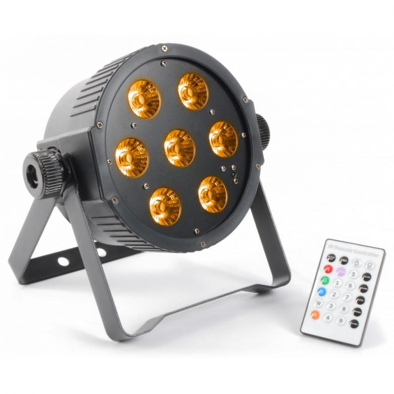 BEAMZ LED FLAT-PAR Spotti 7x15W RGBAW IR, discoland.fi