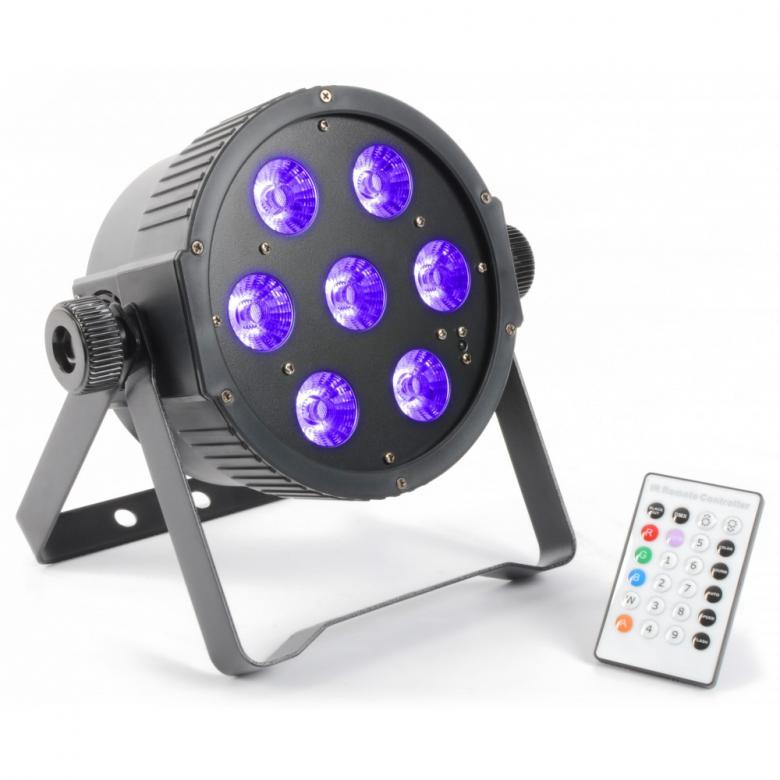 BEAMZ LED FLAT-PAR Spotti 7x18W RGBAWUV , discoland.fi