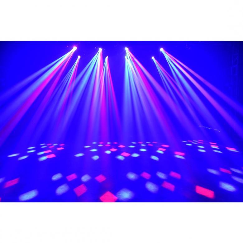 ADJ Vortex 1200 American DJ:n uusi ja tehokas moonflower tyyppinen movinghead. Tässä lampussa on 12 kpl 10W RGBW Quad color-lediä. Lampun 16 erillistä linssiä luovat hienon efektin. Tämä lamppu on suunniteltu erityisesti baareihin, yökerhoihin ja lavavalaistukseen. Zoom mahdollisuus antaa vielä lisää mahdollisuuksia lampun sijoitteluun. Zoom on huikeat 5-44 astetta. Laite toimii DMX ohjauksella (4-kanavaa), 23 valmiilla ohjelmalla, sekä 4 show moodilla.
