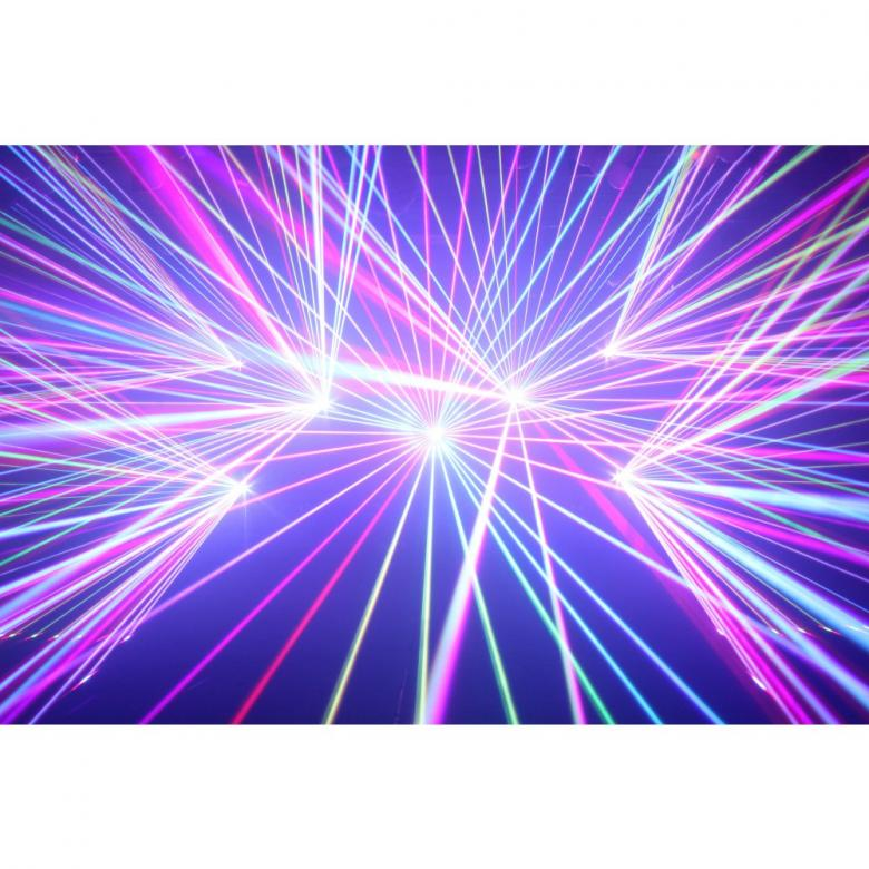 BEAMZ Pandore PRO Laser 1,25W  1250 TTL Laser RGB 30kpps, DMX, ILDA linkkaus. Maximi scannaus kulma 60- astetta. Mitat 220 x 235 x 173mm sekä paino 4,75kg.