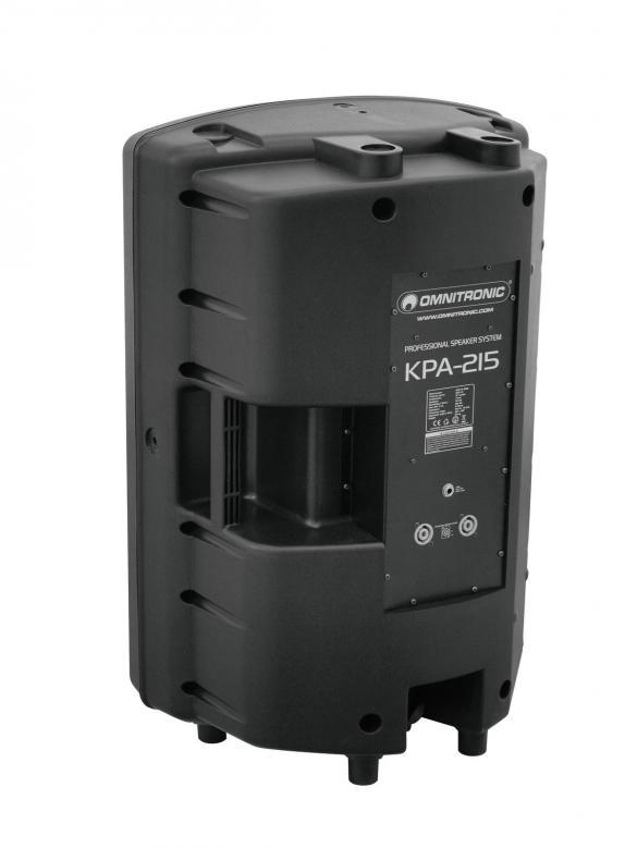 OMNITRONIC KPA-215  PA-kaiutin vaativaan keikkakäyttöön tai kiinteään asennukseen. Laadukas 15