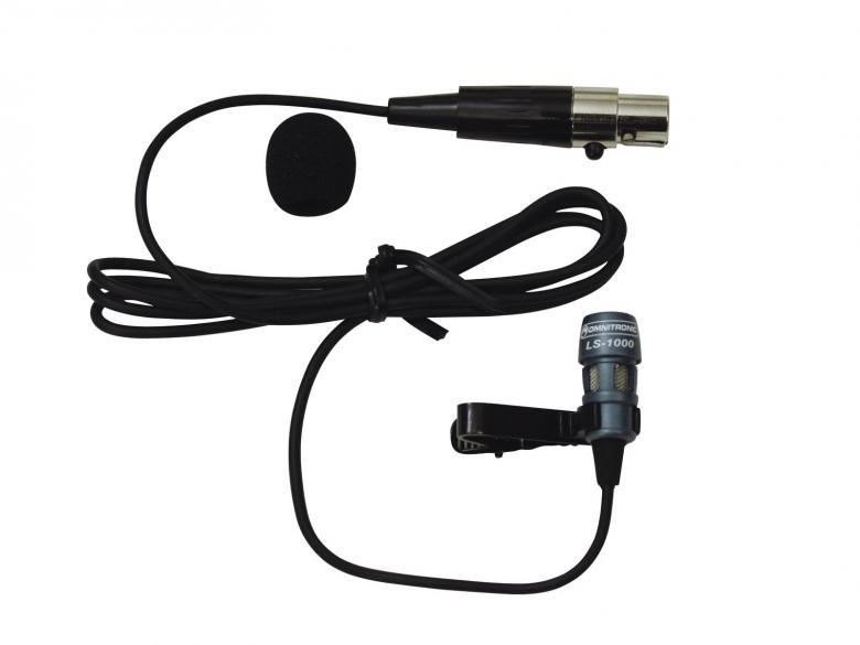 OMNITRONIC LS-1000 kravattimikrofoni, joka on liitettävissä taskulähettimeen, huipputason ääni puheisiin, teatteriin sekä esittelyihin. Cardioidi suuntakuvio, kaapelin pituus 1m, mini XLR liittimellä. Paino 20gr. paketti sisältää foam tuulisuojan 1kpl,