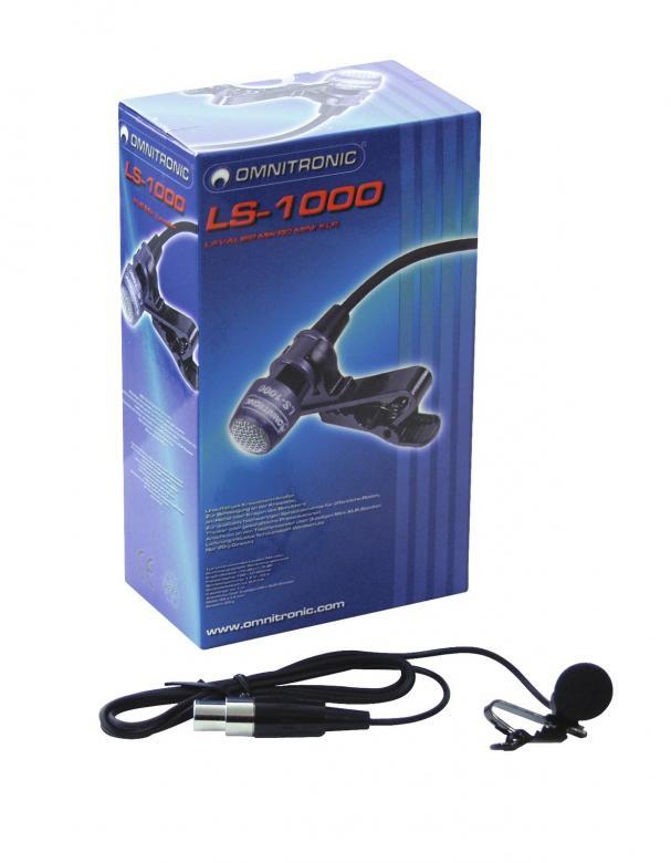 OMNITRONIC LS-1000 kravattimikrofoni, jo, discoland.fi