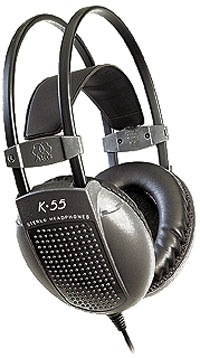 AKG POISTUNUT...TUOTE...K 55 kuulokkeet, Features 200 mW maximum input power and a sensitivity of 96 dB