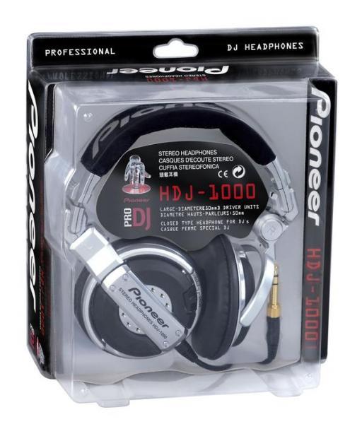 PIONEER HDJ-1000 Huippu Dj-kuuloke, PRO-DJ-Tuote