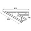 BISYSTEM 2-tie kulmapala 45° PH-19 horizontal. 2-