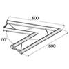 BISYSTEM 2-tie kulmapala 60° PH-20 horizontal. 2-