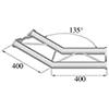 BISYSTEM 2-tie kulmapala 135° PH-23 horizontal. 2