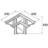 BISYSTEM 3-tie kulmapala 90° PH-31 horizontal. 3-