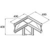 BISYSTEM 3-tie kulmapala 90° PV-31 vertical. 3-wa
