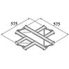 BISYSTEM  4-tie risteyspala PH-41 horizontal. 4-wa