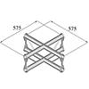BISYSTEM  4-tie risteyspala PV-41 vertical. 4-way