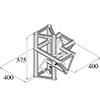 TRISYSTEM 4-tie risteyspala \/ r+h PAC-44. 4-way c