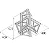 TRISYSTEM 4-tie risteyspala \/ l+h PAC-45. 4-way c