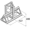 TRISYSTEM 3-tie T-pala PAT-35 vertical. 3-way T-pi