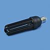 OMNILUX, UV-energiansäästölamppu 25W E27 3U mustaval