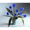 35cm Tulppaanit keraamisella ruukulla, sininen. Tu