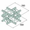 DECOLOCK 4-tie risteyspala DQ4-PAC41 4-way cross p