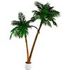 305cm Palmu tuplarungolla ja decoruukulla, näytt�