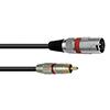 RCA-XLR-adapterikaapeli 0,6m, RCA - XLR-uros, vär