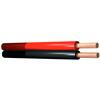 SKYTRONIC Kaiutinkaapeli 10m 2x 0,75mm² puna-musta, valmis rulla kaapelia, joka soveltuu max. 200W tehoille. Suositus kotistereot tai lyhyet kaiutinvedot taustamusiikkiin.