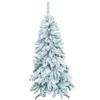 150cm Joulukuusi 'lumella' kuorrutettu, tyylikäs,