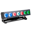ACL LED-palkki 7x 15W RGBW-värit, optiset linssit
