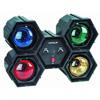 EUROLITE RFL-4 Valourku setti, neljä väriä, tehokas 4x 60W sekä musiikkiohjautuva sisäänrakennetulla mikrofonilla!Hauska valourku kotiin tai firman bileisiin, laite on h