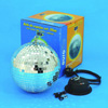 EUROLITE Peilipallosetti 20cm, sisältää 20cm pallo sekä moottori ja ketju. Mirror Ball Set 20cm, High Quality Mirror Ball+ MD-1015 motor with plug+ chain, Peilipallosetti