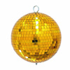 Mirror ball Gold 20cm in a colour box, Peilipallo