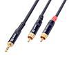 Mini Plugi-RCA-adapterikaapeli 1,5m, Jack Plug 3,5